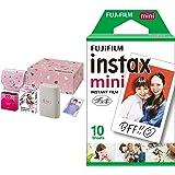 【セット買い】FUJIFILM チェキ スマホプリンター instax mini Link ベージュゴールド ギフトBOX INS LINK BEIGE GOLD GIFT BOX & FUJIFILM インスタントカメラ チェキ用フィルム 10枚入