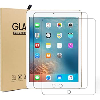 iPad 9.7 ガラスフィルム【2枚入り】 UCMDA 2.5D ラウンドエッジ加工 耐指紋 液晶保護 フィルム【3D Touch対応 / 硬度9H / 気泡防止 / 防爆裂 】iPad Pro 9.7 / Air2 / Air / New iPad 9.7インチ(2017年新型) 用 フィルム 強化ガラス