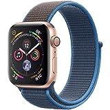 METEQI バンド 対応 Apple Watch,しいナイロン スポーツループバンド ストラップ 交換バンド for Apple Watch Series 6/5/4/3/2/1/SE (42mm/44mm, サーフブルー)
