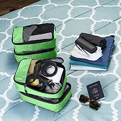 AmazonBasics Packing Cubes - Small (4-Piece Set), Green