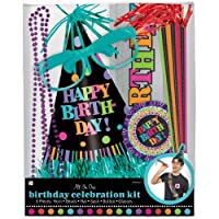 Party On Polka Dot Happy Birthday Accessory Kit, Pack of 6, Multi, Assorted Sizes, [並行輸入品]