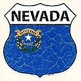 ネバダ州★NEVADA・標識型・州旗柄★アメリカンブリキ看板