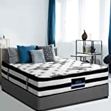 Giselle Bedding Queen Mattress 34cm Pocket Spring Foam Euro Top Mattress