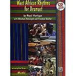 ドラムセット教則本 「ウェスト・アフリカン・リズム・フォー・ドラムセット/ West African Rhythms for Drumset」CD付 ロイヤル・ハーティガン著 【直輸入版】