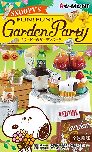 Re-Ment Miniature Peanuts Snoopy Fun Fun Garden Party Full set of 8 w t... Japan