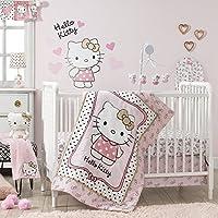 Bedtime Originals Hello Kitty Luv Hearts 3 Piece Crib Bedding Set Pink/Gold [並行輸入品]