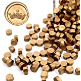 UNIQOOO Arts & Crafts 180 Pcs Metallic Antique Gold Box Sealing Wax Beads Nuggets for Wax Seal Stamp, Great for Embellishment