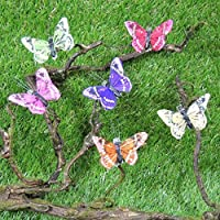 工場直接クラフトPackage of 12 Assorted Multi Colored Monarch Butterflies