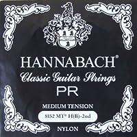 HANNABACH E8152 MT-Black H 2弦 クラシックギターバラ弦 2弦×6本セット