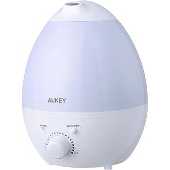 加湿器 AUKEY 超音波式 大容量 卓上加湿器 アロマディフューザー 自動オフ タンク容量 省エネ 1.3L 水漏れ防止 静音 連続加湿 UH-M5