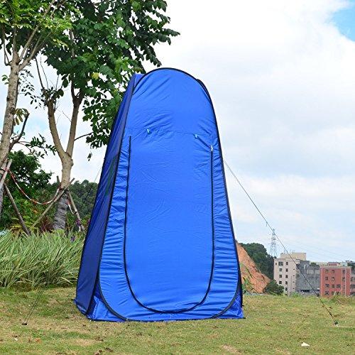 Dpower 着替え テント 1人用 設営簡単 パッと開くだけ 片付け10秒ワンタッチ式 キャンプ 簡易 小型 コンパクト 防災 緊急 母子 公園 紫外線防止 日よけ 更衣室 代わり ワンタッチ 日よけ プライベート ソロ 透けない生地 SY-A07 (ブルー)