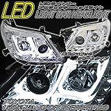 78ワークス 150 ランドクルーザー ランクル プラド ファイバー LEDライトバー プロジェクターヘッドライト クロームタイプ -