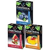 Fantasia Herbal, Hookah Shisha Flavors, Tobacco & Nicotine Free, Fruit Variety Pack, 50-Gram (Pack of 3) F3