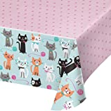 Creative Converting Purrfect Party All Over Print Plastic Tablecover
