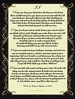場合Poem by Rudyard Kipling in 1895。(ジャングル・ブックの作成者) 8.5X 11( 22x 28cm
