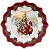 Villeroy & Boch Toys Fantasy Large Bowl Santa and Tree, 25 x 25 x 4 cm, White