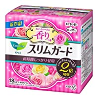 花王 ロリエスリムガード スイートローズの香り 長時間しっかり昼用 25cm 18個入 × 6個セット