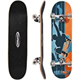 ChromeWheels 31 inch Skateboard Complete Longboard Double Kick Skate Board Cruiser 8 Layer Maple Deck for Extreme Sports and