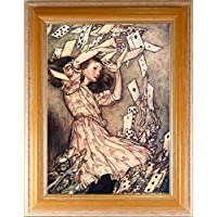 BiblioArt Series アーサー・ラッカム 「不思議の国のアリス<カードのシャワー>」額装品