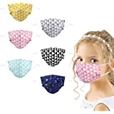 Kids Cloth Reusable Mask Washable, 6Pcs Cute Cotton Lanyard Fabric Face Cover for Girls Boys Toddler Children in Cooling, Pin