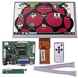 Kuman 3つセット ラズベリーパイ 7インチ IPS1024*600液晶パネル ラズベリーパイ ディスプレイ ディスプレイ  +コントロール基板 +リモコン HDMI出力 VGAポート 2AV 五つボタン付きスイッチ Raspberry Pi Model Pi2 / Pi3 も適応 Model B+ B A