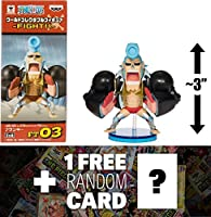 """Franky : ~ 3"""" One Piece X WCF ' Fight ' mini-figure + 1Free official One Piece Tradingカードバンドル( ft03) ( 362459)"""