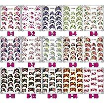 ウォーターネイルシール フレンチ 選べる33種 極薄、重ね貼りOK<単品・パッケージ無し> (B-17)