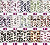 ウォーターネイルシール フレンチ 選べる33種 極薄、重ね貼りOK<単品・パッケージ無し> (B-12)