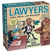 Lawyers 2019 日曜日-曜日-デイリーデスクボックスカレンダー