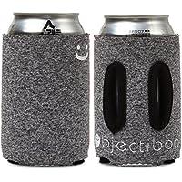 """Objectiboo!(オブジェクティブー)通せるクージー 350ml用 """"LOOK UP"""" ヘザーブラック 取手付き缶クージー・ペットボトル、CB缶カバーにも使用可 日本製"""