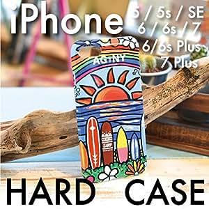 (イチノユメ) ICHINOYUME スマホケース iPhone7 ハードケース iPhoneケース 全機種対応 スマホカバー ハワイアン Hawaii アロハ 海 ビーチ サーフ surf おしゃれ 人気 プルメリア サーフボード【Surf Rider Rainbow】