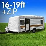 Premium 16ft to 19ft Caravan Cover with Side Zip Campervan 17ft 18ft