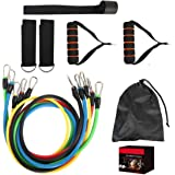 Exercise Resistance Bands Set,fitness Stretch Workout Bands Cord With Pull Ropes, Handles, Door Buckle, Foot Ring And Bag For