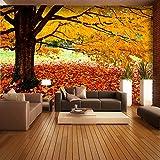 Sproud シームレスな風景の壁画ベッドルームのベッドサイド・モニタの背景の壁紙の壁紙 Qiangbu モントリオールメープル Tv リビングルームのソファ 400 Cmx 280 Cm