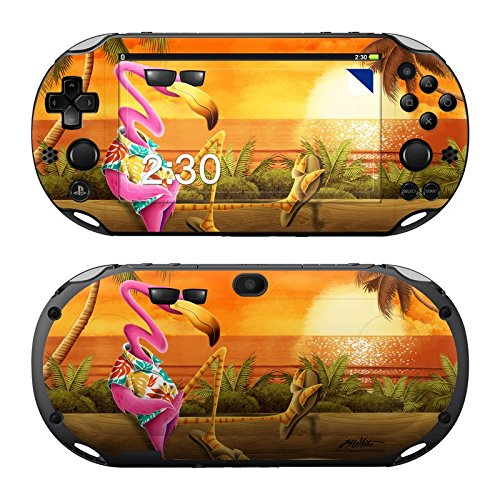 Decalgirl Sony PS Vita 2000用スキンシール Sunset Flamingo