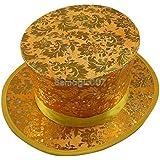折りたたみトップハット - 葉 - ゴールド Folding Top Hat - Foliage - Gold -- マジックアクセサリー
