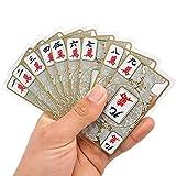 カード麻雀 かっこいい 透明 龍柄 お洒落 静かに サイコロ チップ紙付き