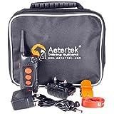 Aetertek At-918c 100% Waterproof Rechargeable Dog Training Shock Collar 600 Yard, Auto Anti Bark Function (one dog collar) by Aetertek