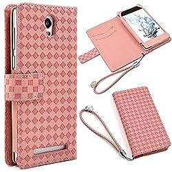 手帳型ケース カードホルダー付き ピンク 全5色 F.G.S正規代理品