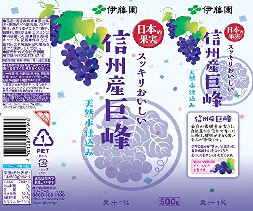 伊藤園 日本の果実 信州産巨峰 天然水仕込み 500g×24本