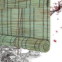 HAIPENG ロールアップ 式 竹すだれ 目隠し 遮光 竹製 スクリーン 窓 ブラインド PE プラスチック ローラーブラインド にとって 庭園 カーテン ポーチ バルコニー 垂直 ベネチアン 防水 シェーディング 色合い (Color : A, Size : 60x160cm)