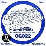 D'Addario ダダリオ エレキギター用バラ弦 フラットワウンド .022 CG022 5本セット 【国内正規品】