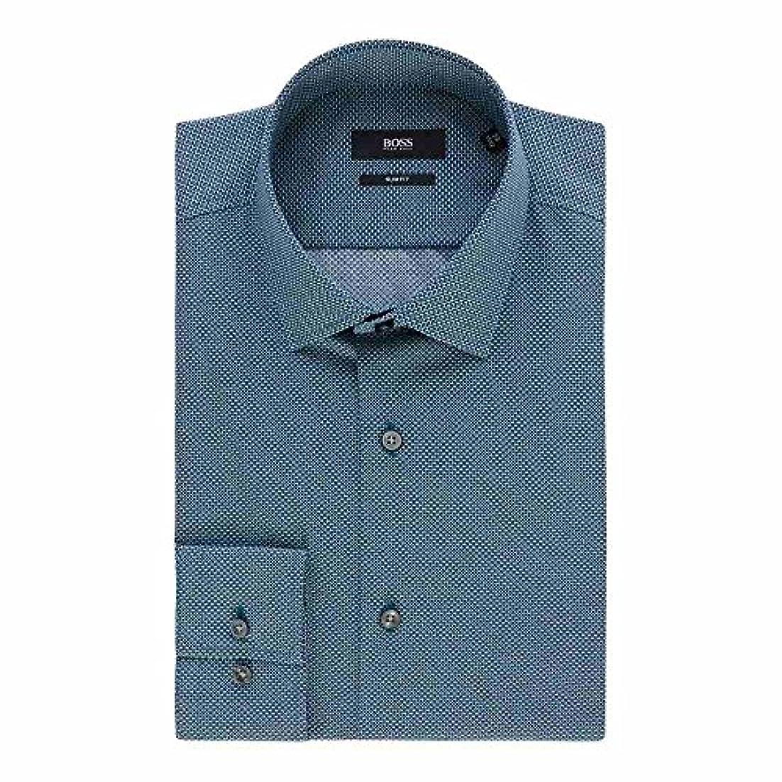 踏み台呼ぶリズミカルな(ヒューゴ ボス) Hugo Boss メンズ トップス シャツ Jenno Slim Micro Geo Print Shirt [並行輸入品]