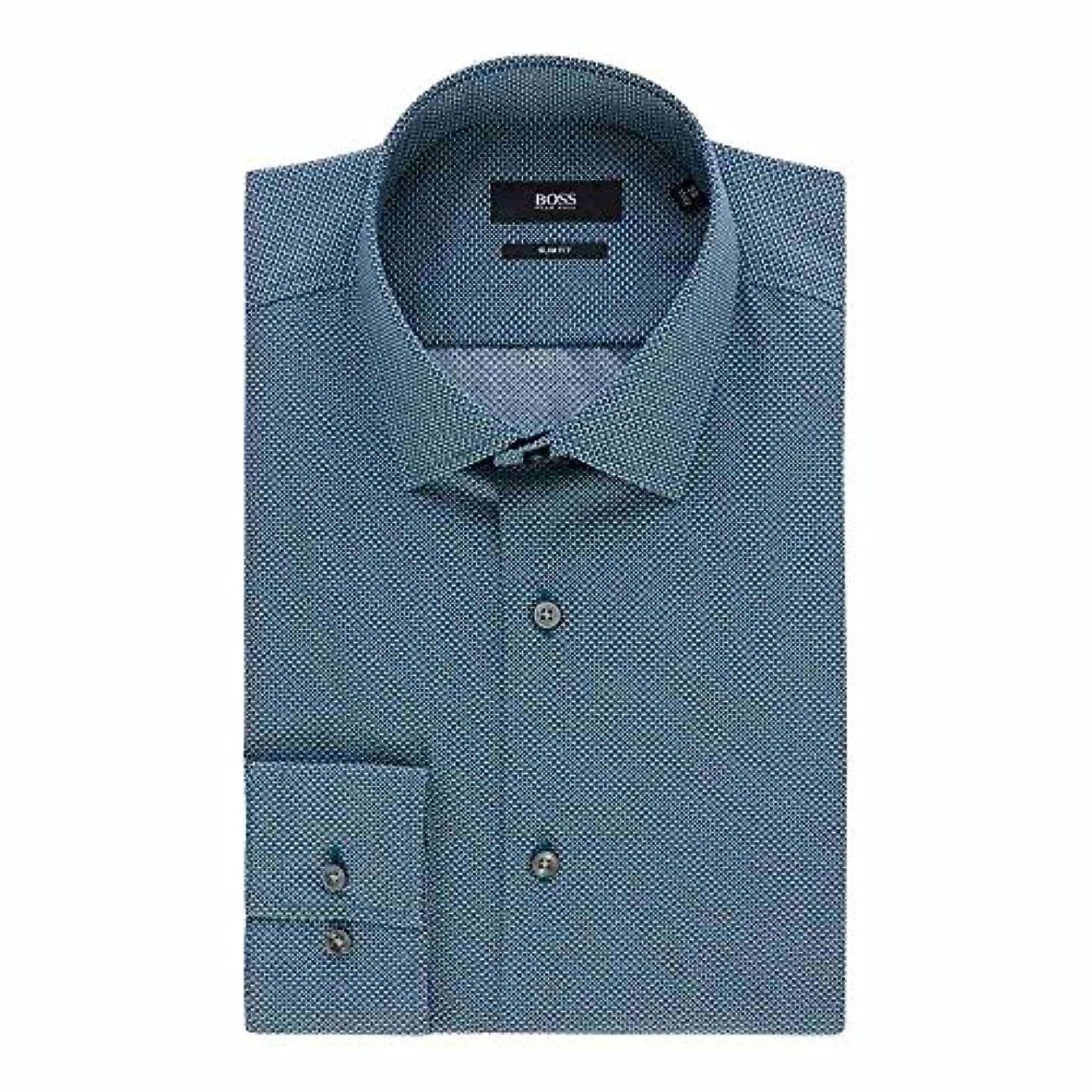シマウマ陰気高揚した(ヒューゴ ボス) Hugo Boss メンズ トップス シャツ Jenno Slim Micro Geo Print Shirt [並行輸入品]