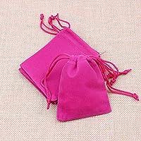 ベルベット 巾着袋 無地 ギフト ジュエリーポーチ 小物入れ キャンディ ラッピング プレゼント用 収納袋 50枚 セット