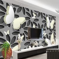 Sproud カスタムの壁紙壁画 3D 立体蝶花の壁の壁画を現代的な抽象美術の壁紙壁カバーリビングルームの Tv 350 Cmx 245 Cm