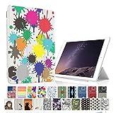 MIxUP iPad mini2 mini3 スマート カバー バック ケース 手帳型 スタンド 機能 アイパッド ミニ2/3 おしゃれ かわいい 絵の具 スプラッシュ ペイント MXP-M2-ssSPLA-spla