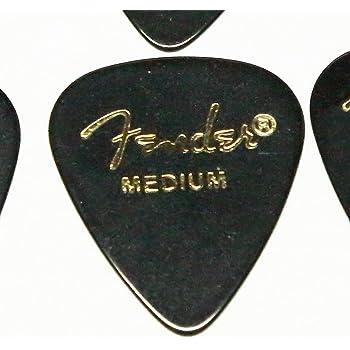 Fender ピック×10枚 ティアドロップ MEDIUM-BLK
