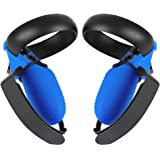 Esimen Touch Controller Grip Cover for Oculus Quest/Rift S Wrist Strap Anti-Throw Handle Protective Sleeve Suit (Blue Cover+S