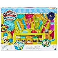 Play-Doh Kitchen Creations 究極のシェフセット - プレイドーキッチンツールで食事を作りましょう - 40点 & 10缶 プレイ・ドー